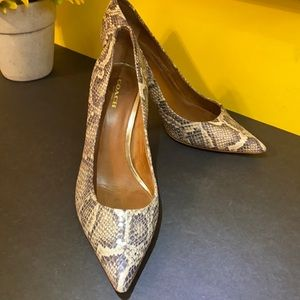 Coach Python Embossed Leather Pumps Shoes 8.5 B